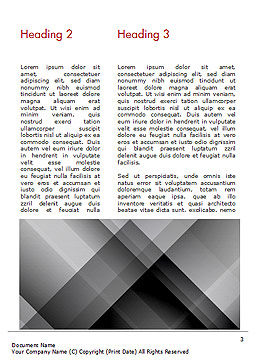 Gray Diagonal Stripes Word Template, Second Inner Page, 15308, Abstract/Textures — PoweredTemplate.com