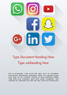 Social Media Icons Word Template, Cover Page, 15310, Careers/Industry — PoweredTemplate.com