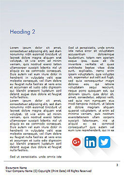 Social Media Icons Word Template, Second Inner Page, 15310, Careers/Industry — PoweredTemplate.com
