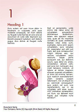 Women's Cosmetics Word Template, First Inner Page, 15312, Careers/Industry — PoweredTemplate.com