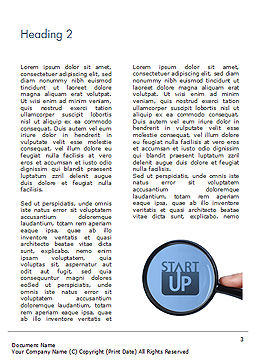 Word Startup Under Magnifier Word Template, Second Inner Page, 15314, Business Concepts — PoweredTemplate.com