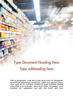 Supermarket Word Template, Cover Page, 15315, Careers/Industry — PoweredTemplate.com