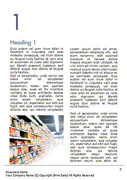 Supermarket Word Template, First Inner Page, 15315, Careers/Industry — PoweredTemplate.com