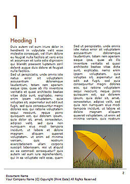 Bright Yellow Umbrella Word Template, First Inner Page, 15316, Careers/Industry — PoweredTemplate.com