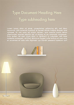 Minimalist Interior Design Word Template, Cover Page, 15319, Careers/Industry — PoweredTemplate.com