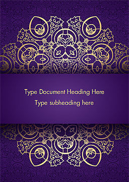 Purple Indian Pattern Presentation Template, Cover Page, 15321, Abstract/Textures — PoweredTemplate.com
