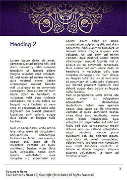 Purple Indian Pattern Presentation Template, Second Inner Page, 15321, Abstract/Textures — PoweredTemplate.com