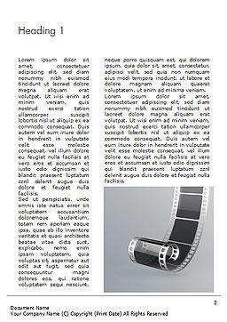 Black Film Strip Word Template, First Inner Page, 15324, Art & Entertainment — PoweredTemplate.com
