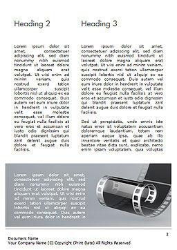 Black Film Strip Word Template, Second Inner Page, 15324, Art & Entertainment — PoweredTemplate.com