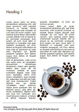 White Cup of Coffee Word Template, First Inner Page, 15328, Food & Beverage — PoweredTemplate.com
