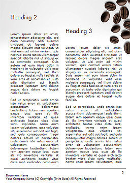 White Cup of Coffee Word Template, Second Inner Page, 15328, Food & Beverage — PoweredTemplate.com