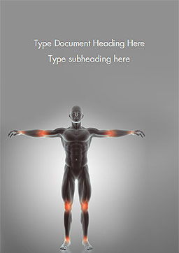 Joint Pain Word Template, Cover Page, 15333, Medical — PoweredTemplate.com