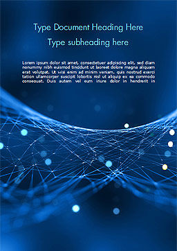 Abstract Blue Polygon Mesh Word Template, Cover Page, 15334, Abstract/Textures — PoweredTemplate.com