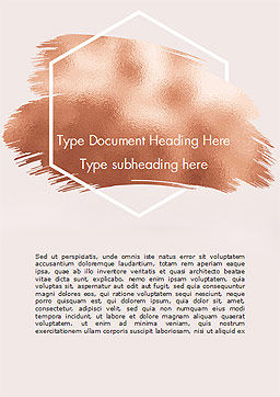 Soft Pink Background with Brush Strokes Word Template, Cover Page, 15336, Abstract/Textures — PoweredTemplate.com