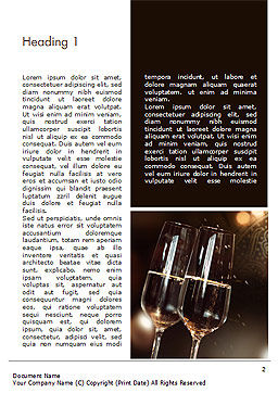 Celebrating with Champagne Word Template, First Inner Page, 15337, Holiday/Special Occasion — PoweredTemplate.com