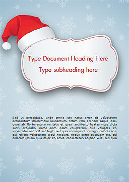 Snowflake Ornament and Santa Hat Word Template, Cover Page, 15341, Holiday/Special Occasion — PoweredTemplate.com