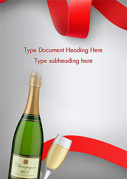 Celebration with Champagne Word Template, Cover Page, 15343, Holiday/Special Occasion — PoweredTemplate.com