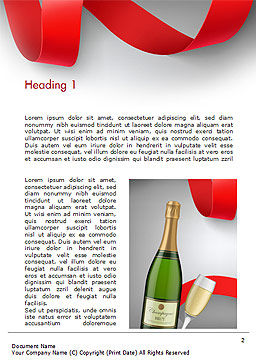 Celebration with Champagne Word Template, First Inner Page, 15343, Holiday/Special Occasion — PoweredTemplate.com