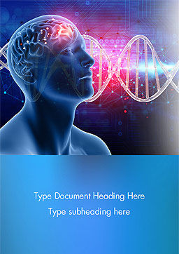 Brain Work Concept Word Template, Cover Page, 15347, Medical — PoweredTemplate.com