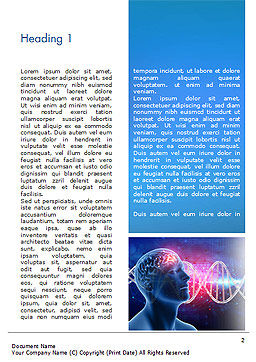 Brain Work Concept Word Template, First Inner Page, 15347, Medical — PoweredTemplate.com