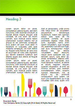Cutlery Pattern Word Template, Second Inner Page, 15348, Food & Beverage — PoweredTemplate.com
