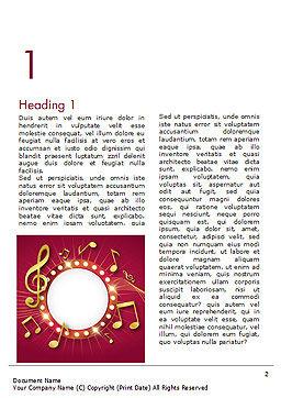 Music Show Background Word Template, First Inner Page, 15355, Art & Entertainment — PoweredTemplate.com