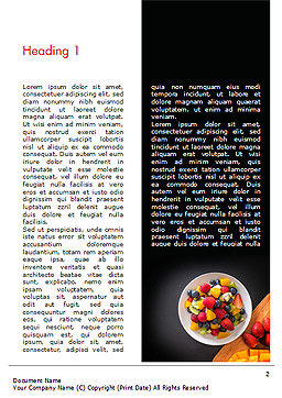 Fruit Salad Word Template, First Inner Page, 15360, Food & Beverage — PoweredTemplate.com