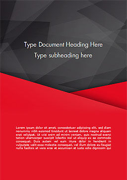 Red and Black Polygonal Background Word Template, Cover Page, 15361, Abstract/Textures — PoweredTemplate.com