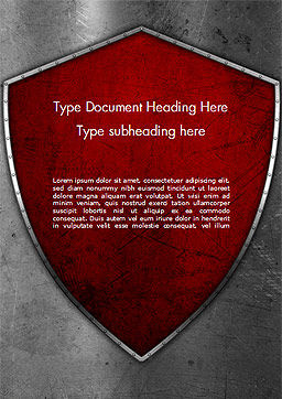 Red Shield Word Template, Cover Page, 15362, Careers/Industry — PoweredTemplate.com