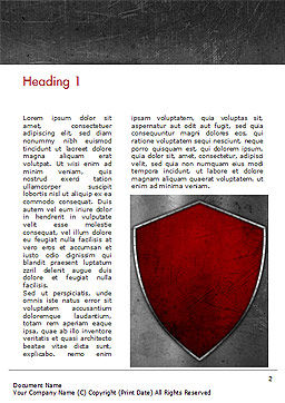 Red Shield Word Template, First Inner Page, 15362, Careers/Industry — PoweredTemplate.com