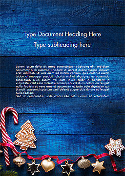 Christmas Decorations Word Template, Cover Page, 15363, Holiday/Special Occasion — PoweredTemplate.com