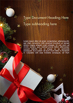 Christmas Gift Box Word Template, Cover Page, 15364, Holiday/Special Occasion — PoweredTemplate.com