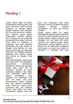 Christmas Gift Box Word Template, First Inner Page, 15364, Holiday/Special Occasion — PoweredTemplate.com