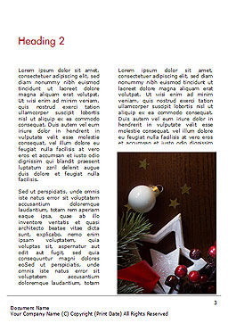 Christmas Gift Box Word Template, Second Inner Page, 15364, Holiday/Special Occasion — PoweredTemplate.com