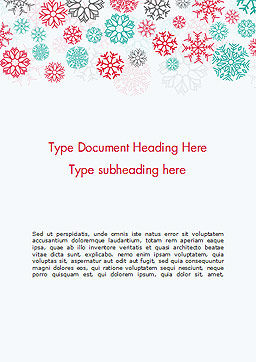 Colorful Snowflakes Background Word Template