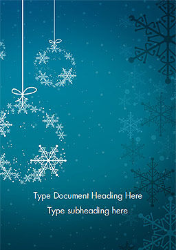 Snowflakes Crystal Balls Word Template, Cover Page, 15367, Holiday/Special Occasion — PoweredTemplate.com