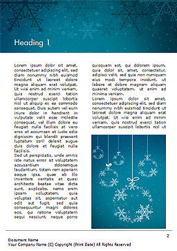 Snowflakes Crystal Balls Word Template, First Inner Page, 15367, Holiday/Special Occasion — PoweredTemplate.com