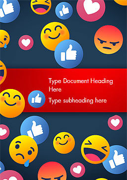 Smiley Background Word Template, Cover Page, 15368, Careers/Industry — PoweredTemplate.com