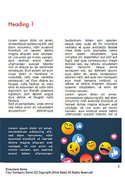 Smiley Background Word Template, First Inner Page, 15368, Careers/Industry — PoweredTemplate.com