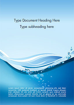 Drinking Water Supply Word Template, Cover Page, 15369, Nature & Environment — PoweredTemplate.com