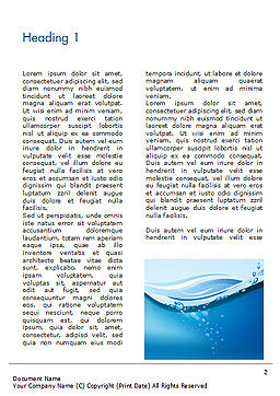 Drinking Water Supply Word Template, First Inner Page, 15369, Nature & Environment — PoweredTemplate.com