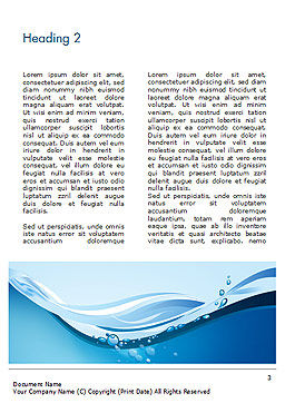 Drinking Water Supply Word Template, Second Inner Page, 15369, Nature & Environment — PoweredTemplate.com