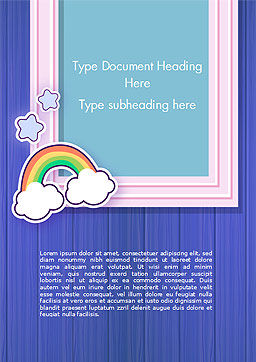 Frame with Rainbow Word Template, Cover Page, 15373, Holiday/Special Occasion — PoweredTemplate.com