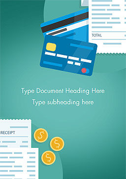 Payment Receipt Word Template, Cover Page, 15375, Financial/Accounting — PoweredTemplate.com