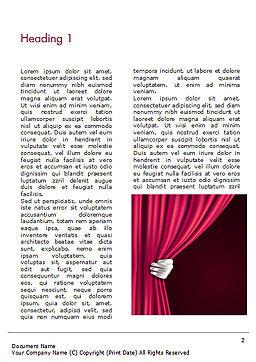 Theater Curtain Word Template, First Inner Page, 15376, Art & Entertainment — PoweredTemplate.com