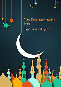 Eid al-Adha Theme Word Template, Cover Page, 15377, Religious/Spiritual — PoweredTemplate.com