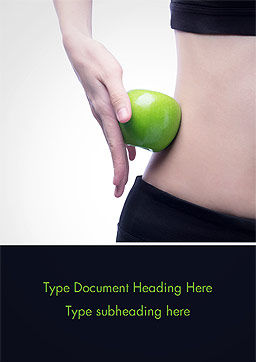Food and Exercise Word Template, Cover Page, 15378, People — PoweredTemplate.com