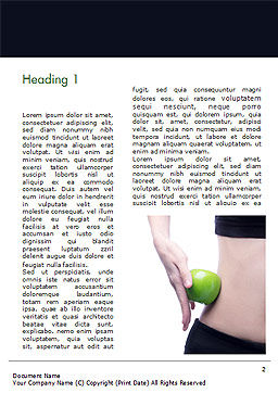 Food and Exercise Word Template, First Inner Page, 15378, People — PoweredTemplate.com