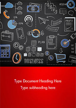 Business Planning Doodles Word Template, Cover Page, 15379, Business Concepts — PoweredTemplate.com