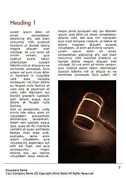 Judges Gavel Word Template, First Inner Page, 15382, Legal — PoweredTemplate.com